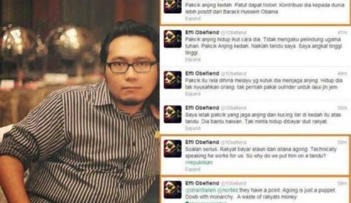 Effi Nazrel Saharudin Didenda RM10,000 Hina Agong