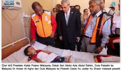 Kanak-Kanak Palestin Turut Dibawa Pulang Untuk Rawatan