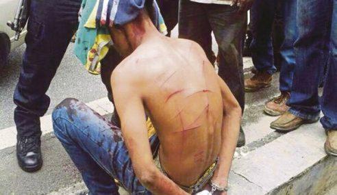 VIDEO: Peragut Kena Belasah Kaw-Kaw Punya Di Sg Besi
