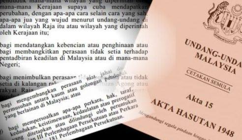 K'jaan Nafi Guna Akta Hasutan 1948 Untuk Pendakwaan