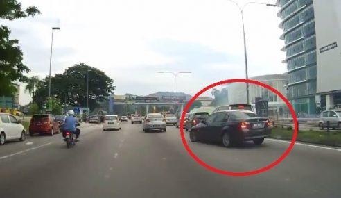 VIDEO: Kereta BMW 'Cabut' Lepas Langgar Proton Exora