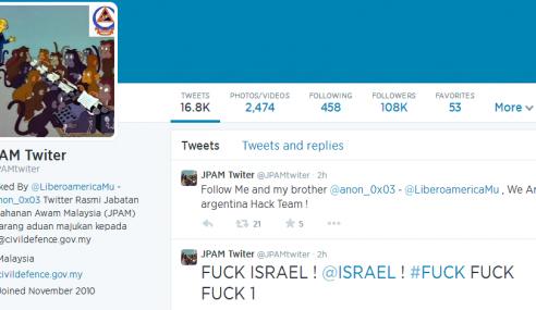 Akaun Twitter Jabatan Pertahanan Awam Malaysia Digodam
