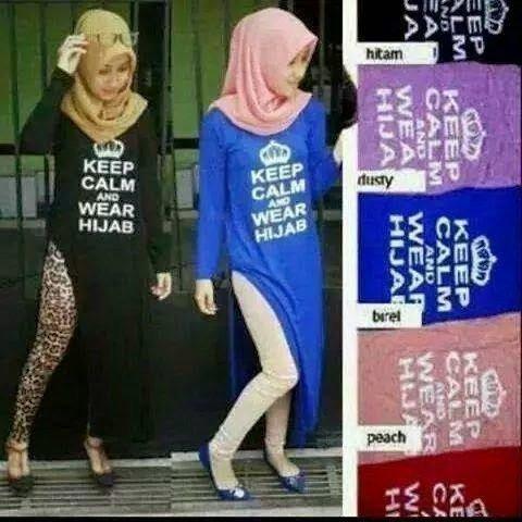 'Keep Calm And Wear Hijab' Tengkorak Kamu..