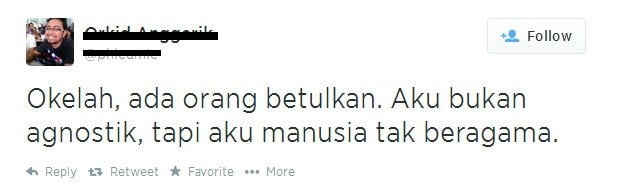 Pemuda Ini Bangga Mengaku Sudah Murtad Di Twitter!