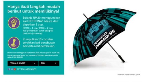 Ramai Kecewa Payung Petronas Edisi Terhad Habis Stok…