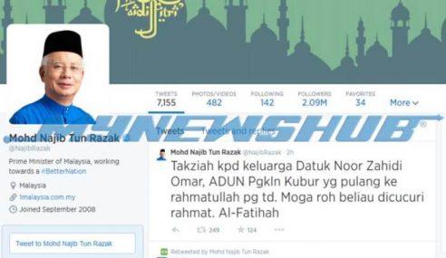 Najib Rakam Ucap Takziah Keluarga Adun Pengkalan Kubor