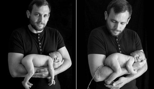 Bayi Beri Kejutan Pada Bapa, Berak Ketika Bergambar