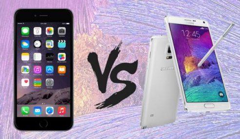 Apple IPhone 6 Plus Vs Samsung Galaxy Note 4