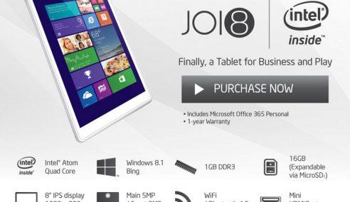 Joi 8: Tablet Windows 8.1 Tempatan Pertama
