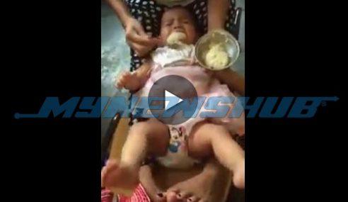 KEJAM!! Wanita Indon Paksa Suap Bayi Makanan.. SEBARKAN!!