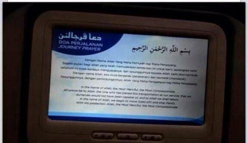 Ming Jian Kutuk Doa Penerbangan Dalam Pesawat MAS