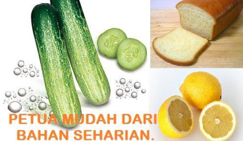 Timun, Cuka, Lemon & Roti, Bahan Mujarab Untuk Petua Harian