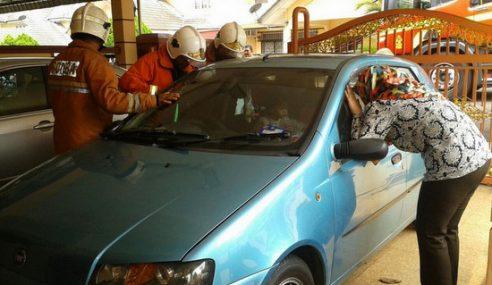 Bomba Selamatkan Budak 2 Tahun Terkunci Dalam Kereta