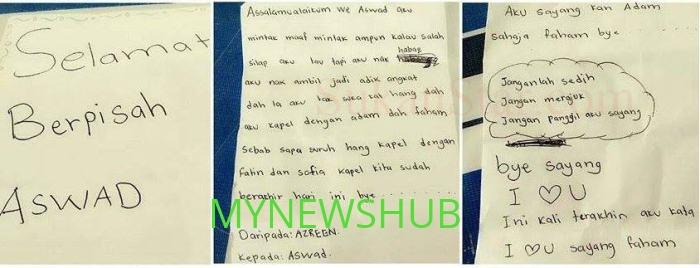 Surat Perpisahan Azreen Kepada Aswad Yang Sangat Kelakar
