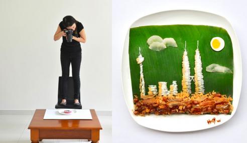 Comel Giler! Gadis Cina Hasilkan Karya Seni Menggunakan Makanan