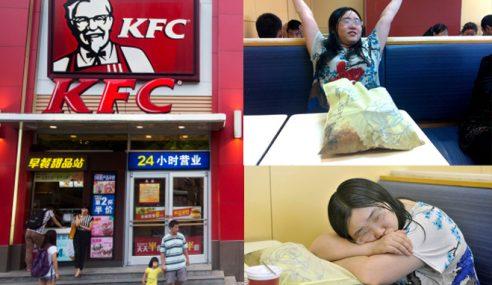 Wanita Tinggal Di KFC Selama Seminggu Kerana Putus Cinta!