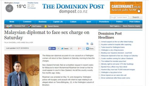 Rizalman Dihantar Ke New Zealand Esok Untuk Dibicarakan