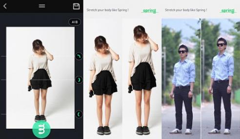 Aplikasi Spring Buat Anda Lebih Tinggi, Langsing Dalam Gambar