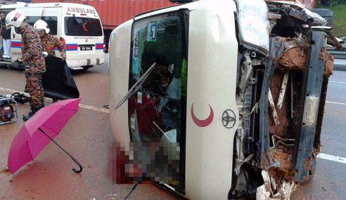 Pemandu Ambulans Maut, 8 Cedera Nahas Dekat Tanjung Malim