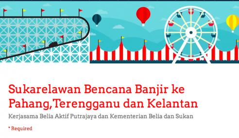 Sukarelawan Di Kelantan, Pahang, & Kelantan Diperlukan!