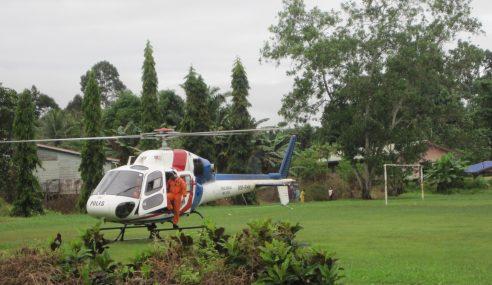 Penduduk Kampung Rambai Gempar Helikopter Terhempas