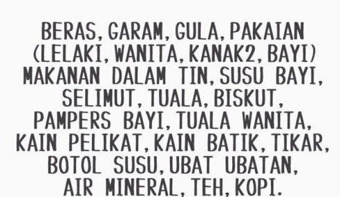 #KelantanKamiDatang – Bantuan & Derma Untuk Mangsa Banjir
