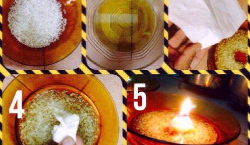 Menarik.. Cara Buat Lilin DIY Untuk Mangsa Banjir