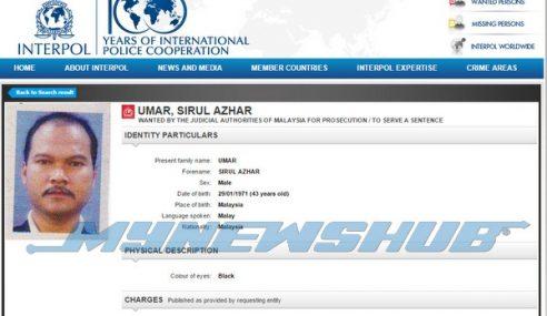 INTERPOL Keluar Notis Merah Buru Sirul Azhar Umar