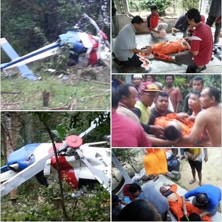 VIDEO: Saat Cemas Helikopter PDRM Terhempas Di Kpg. Rambai