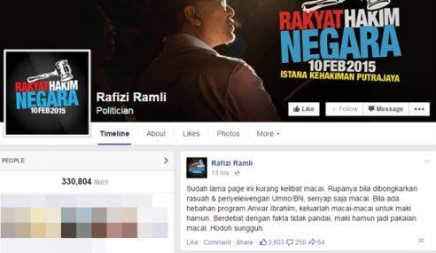 Rafizi Lempar Kata-Kata Kesat Dalam Facebook