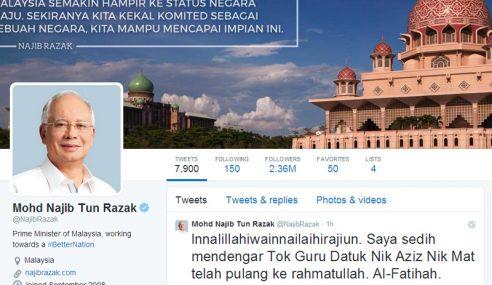 PM Ucap Takziah Kepada Keluarga Allahyarham Nik Aziz