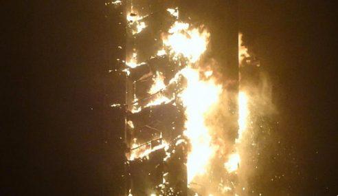 Menara Kediaman Tertinggi Di Dubai Terbakar