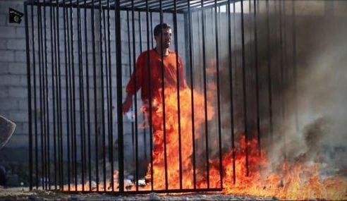 Turutan Gambar Pilot Jordan Dibakar Hidup-Hidup