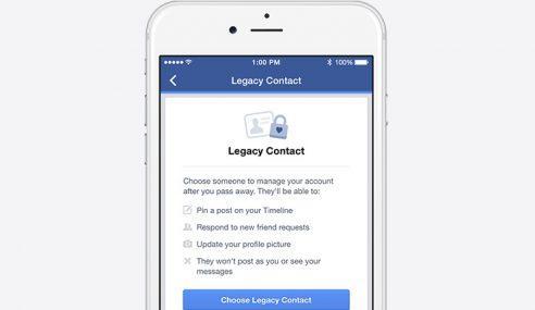 FB Memperkenalkan Fungsi Mewasiatkan Akaun Kepada Rakan