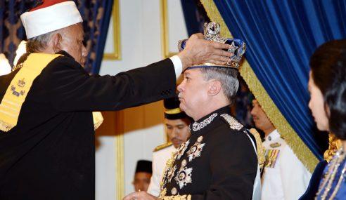 Sultan Ibrahim Dimahkota Sebagai Sultan Kelima Johor Moden