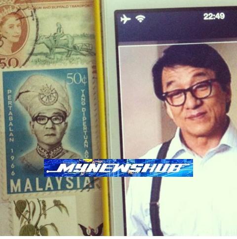 Eh… Wajah Datuk Jackie Chan Hiasi Setem Tahun 1966?
