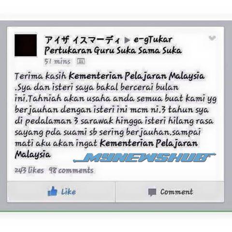 Disebabkan 3 Tahun Di Sarawak, Guru Ini Bakal Bercerai…