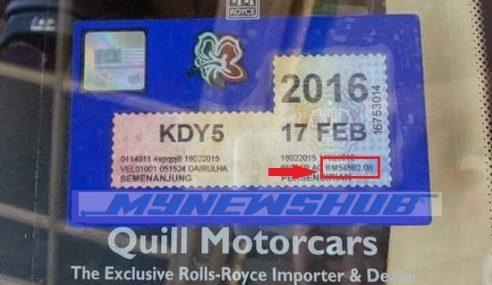 RM54,000 Untuk Bayar Roadtax Sahaja… Kau Mampu?