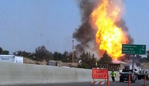 11 Cedera Letupan Paip Gas Di California