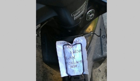 Pencuri Pulang Motosikal, Mohon Maaf