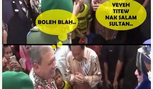 Tak Sambut Salam – Sultan Johor Menyampah Kat Ahmad Maslan?