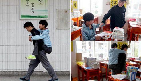 Sahabat Dukung Rakan Ke Sekolah Selama 3 Tahun