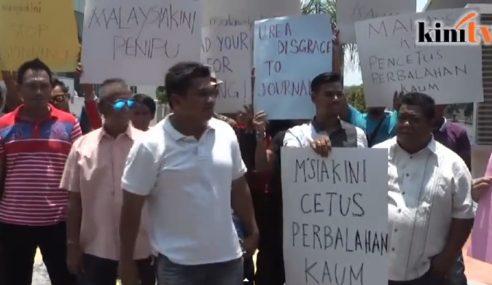 20 Individu Protes Mahu Portal Malaysiakini Ditutup