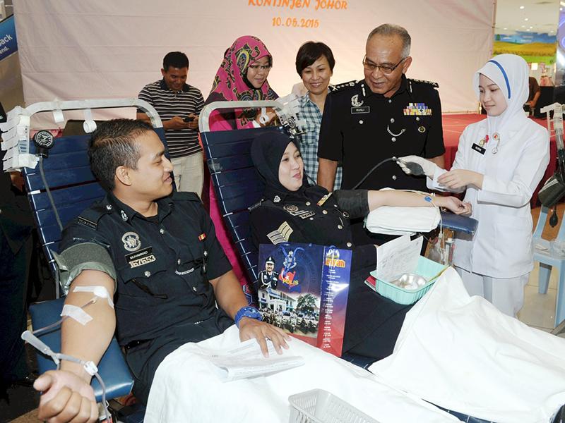Program Derma Darah Polis Johor Sasar 200 Penderma