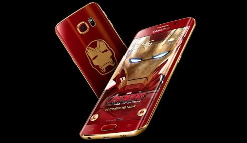 Samsung Galaxy S6 Edge Versi Iron Man, Cool Gila!