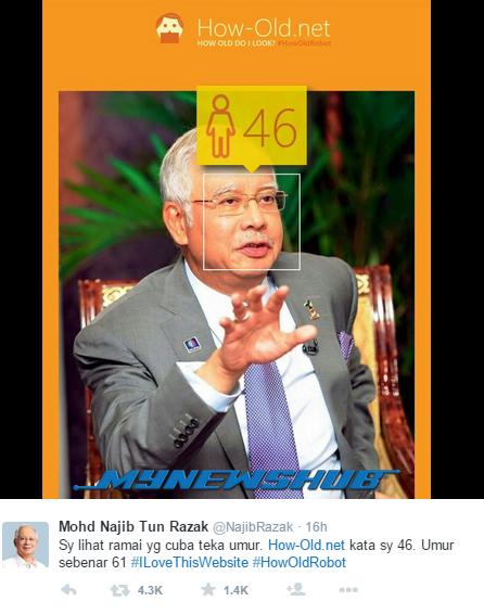 Lucu, Bila Perdana Menteri Mencuba How-Old.net