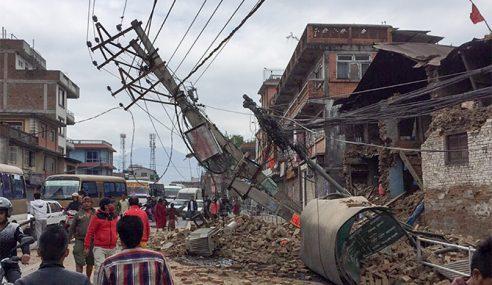 Gempa Terbaharu Nepal, 48 Maut Lebih 1,100 Cedera