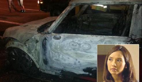 Vanidah Imran Terlibat Dalam Kemalangan, Kereta Terbakar
