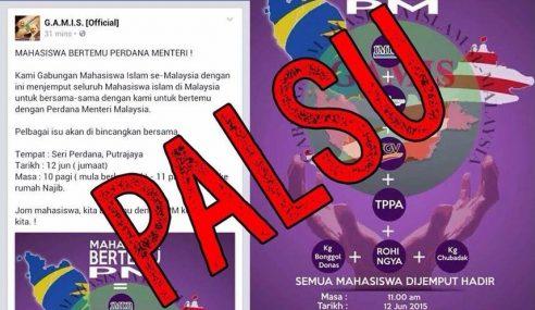 Pejabat PM Nafi Najib Bakal Bertemu Mahasiswa Esok