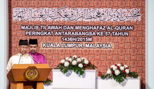 Agong Seru Jadikan Al-Quran Paksi Dalam Semua Urusan